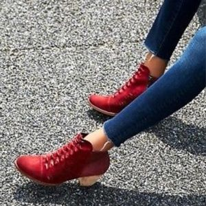 Free People Loveland burgundy wine ankle booties